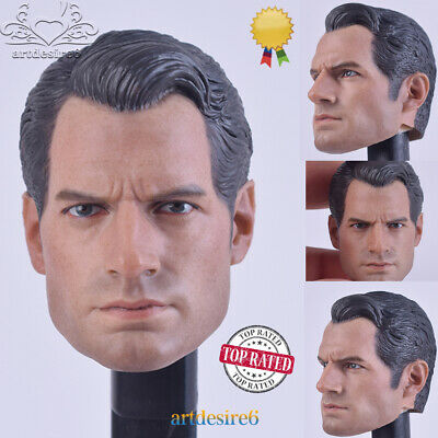 "1:6 Scale Superman Henry Cavill Head Sculpt For 12/"" Male Action Figure Body Toy"