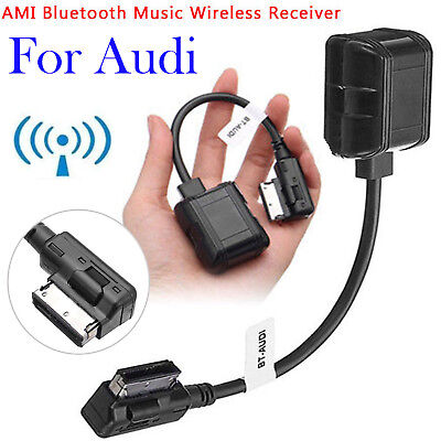 AMI MMI Bluetooth Wireless Music AUX Cable Adapter For Audi A3 A6 A7 A8 Q3