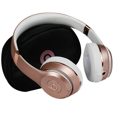 Beats by Dre Solo3 On-Ear Bluetooth Wireless Adjustable Headphones - Rosegold