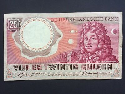 Netherlands 25 Gulden dated 1955 VF