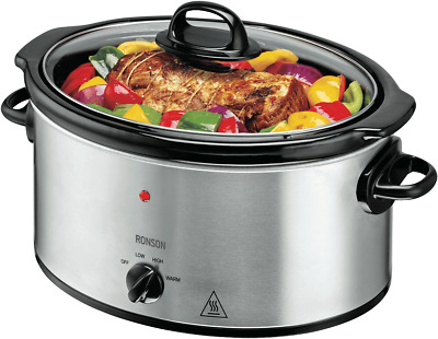 NEW Ronson R5LSCS16 5.4L Stainless Steel Slow Cook