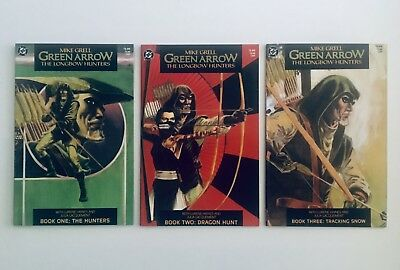 GREEN ARROW: THE LONGBOW HUNTERS, #1-3, 1987, Mike Grell, All NM-M, 9.6-9.8