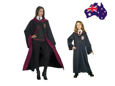 AU Book Week Harry Potter Gryffindor Robe Adult Kids Fancy Dress Party Costume