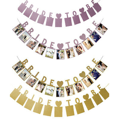 We Are Engaged Bunting Wedding Banner Garland Kraft Photo Props Party Decoration