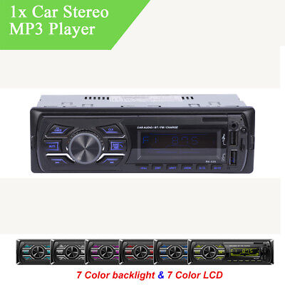 Bluetooth Auto Stereo Audio FM MP3 Radio Player SD Card USB AUX IN ISO Interface