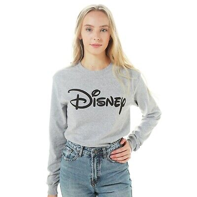 Disney - Logo - Ladies - Long sleeved T-shirt - Grey - Size S,M,L,XL