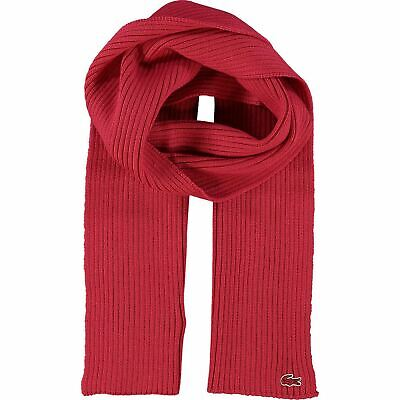 LACOSTE Red Wool Blend Knitted Scarf-Kids