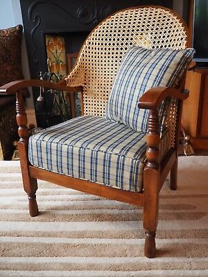 CC41 Fireside Caned Armchair Library Utility Vintage Retro Mid Century Chair