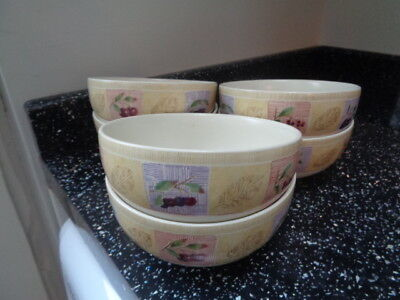 Marks And Spencer Wild Fruits Cereal Bowls X 6