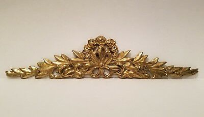 Vintage Brass Bow Design Above Picture Door Mirror Topper Wall Decor