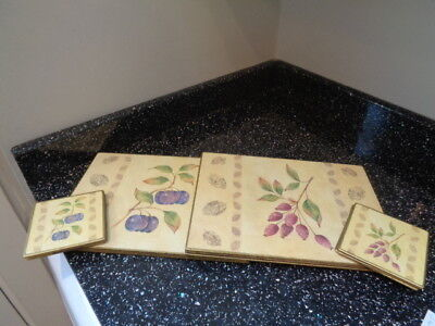 Marks And Spencer Wild Fruits Placemats And Coasters X 6
