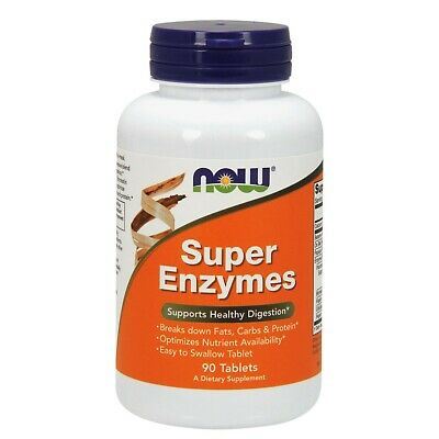 Now Super Enzymes - 90 Tabletten Verdauungsenzyme, aktive Inhaltsstoffe