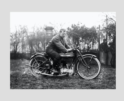 NORTON MOTORCYCLE OLD VINTAGE , (20s ). ( PRINT)
