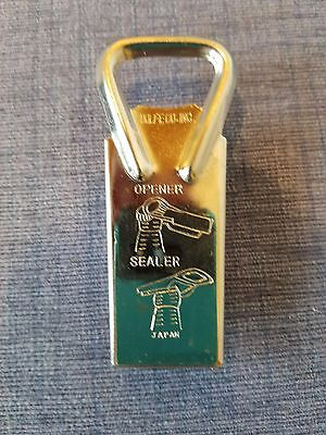 "VINTAGE ""DOLFE"" Co., Inc.  Bottle Top Opener and Sealer Stainless Steel"