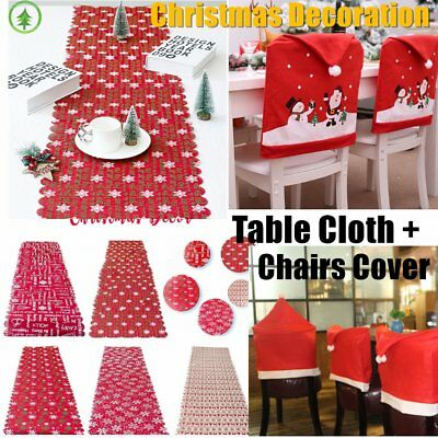 Christmas Table Cover Cloth Letters Printed Dinner Party Home Decoration E2