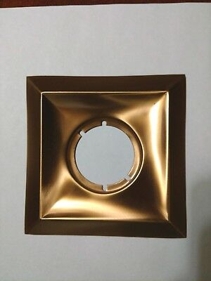 Vintage 1950's Stamped Copper Square/ Diamond Door Backing Plate NOS