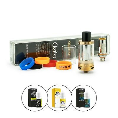 Aspire Cleito Verdampfer Set 3,5 ml + 3 x 10ml Premium Labs Liquid (nikotinfrei)