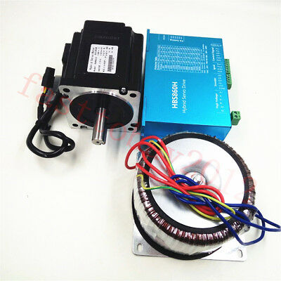 4.5NM Closed-Loop Stepper Motor Nema34 Driver + 300W Power Supply for CNC Router