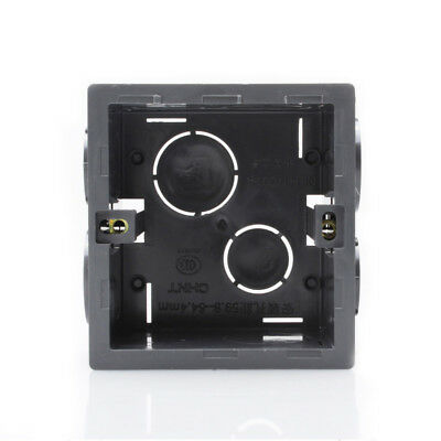 Rectangle Design Black Pattress Back Box Wall Socket Light Switch Fire Retardant