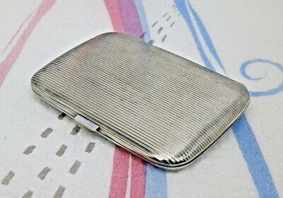 Antique Swiss Solid Silver Cigarette Case, by Achef, Weight 67.6gm