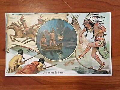 Arbuckles Coffee Trade Card No. 22  American Indians 1893 War Dance Hunting