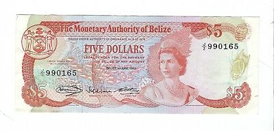 Belize - 1980, Five (5) Dollars