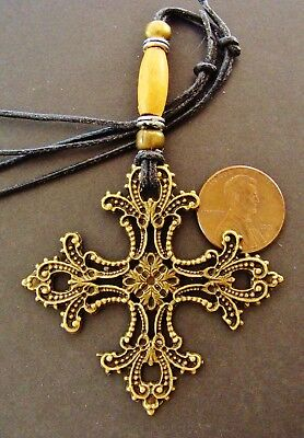 CROSS Jewelry - ANTIQUE MEDIEVAL BYZANTINE STYLE - Cross Necklace Pendant