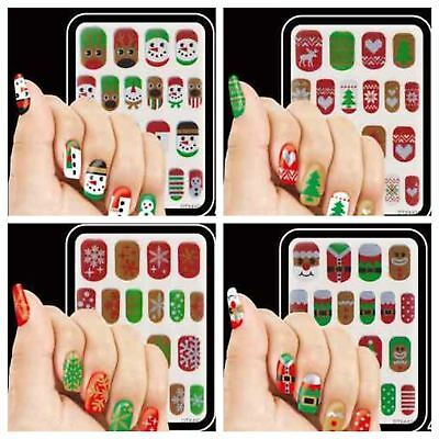 40 Christmas Stick On Nails Temporary Stocking Filler Nail Art Stickers Transfer