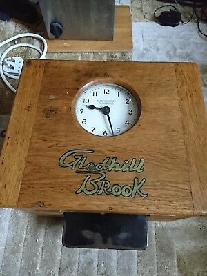 A Vintage Gledhill Brook Time Recorder Clock