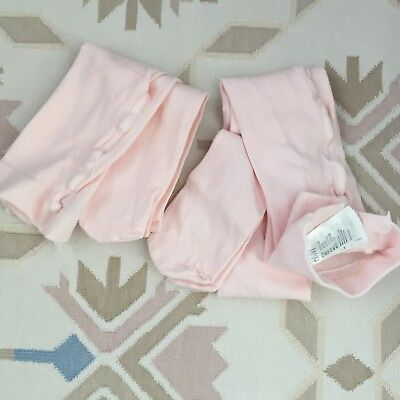NWOT H&M Lot x 2 Pink Thick Knit Tights Sz 6-8 (crewcuts bonpoint) Great Quality
