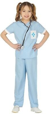 Boys Girls Blue Vet Doctor Job Occupation Book Day Fancy Dress Costume Outfit