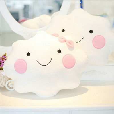 Cute Cloud Shape Pillow Cushion Soft Stuffed Plush Doll Sofa Home Decor Gift JDU