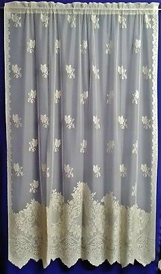 """Ivory/Cream Cleremont  60"""" X 82"""" Lace Panel Free Shipping"""