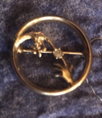 1983  Avon E.T. *Touch of Love* Lapel Pin / Brooch with Rhinestone