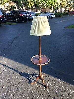 Ethan Allen Georgian Court Pie Crust Floor Lamp***FREE SHIPPING**