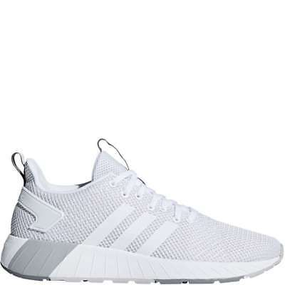 Men's Adidas Questar BYD - White/White/Grey Two - Width: med - Running