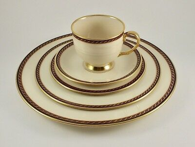Lenox Presidential China MONROE 5 Piece Place Setting (s) Pristine