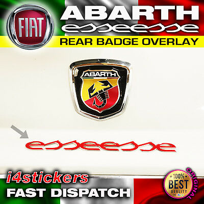 Fiat Abarth Esseesse Badge x 1 Inlay Decal Overlay Sticker Many colours