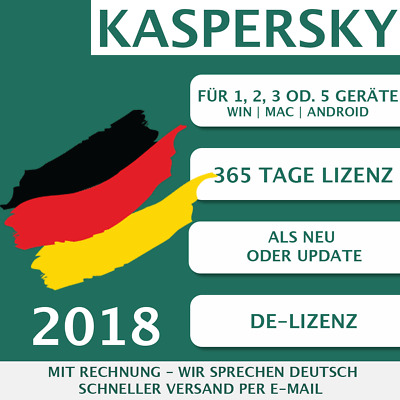 Kaspersky Internet Security 2018 DE [1 PC, 2PC, 3 PC, 5 PC GERÄTE, ESD, KEY]