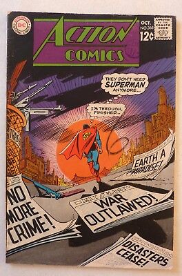 Action Comics 368 Superman Silver Age 1968 DC NF-/NF Condition