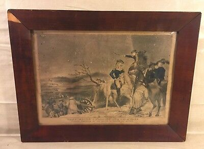 N Currier Lithograph of Washington Crossing the Delaware December 25 1776