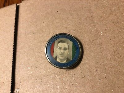 Vintage General Electric Co. Identification New York Photo ID Badge Pin Rare!!