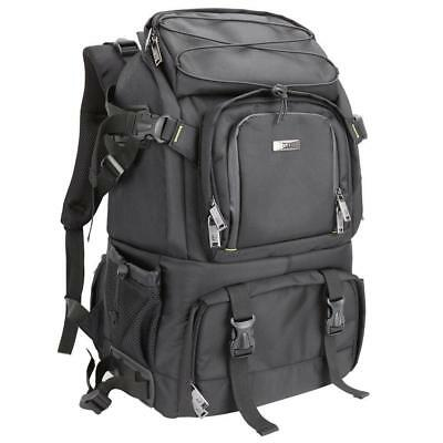 Evecase Extra Large DSLR Camera / 15.6 inch Laptop Travel Daypack Backpack