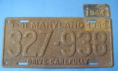 1942/44 Maryland License Plate