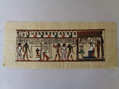 Ancient Egypt / Book of the Dead / Hunefer (Rare & Hand-painted on Papyrus)