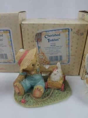 Cherished Teddies Collectible Henry Figurine Henry Celebrating Spring With You