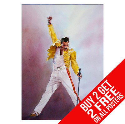 Freddie Mercury Queen Poster A4 A3 Size Print - Buy 2 Get Any 2 Free