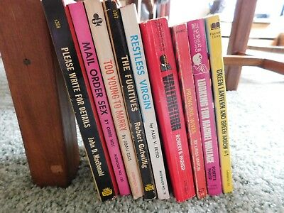 Vintage paperback lot of sleeze and some others