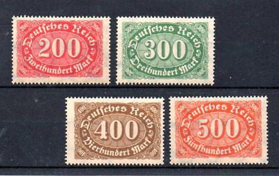 set of 4 early stamps from germany. 1922