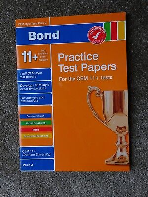 Bond Practice Test Papers for CEM 11+ Test